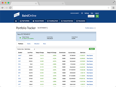 Portfolio Tracker screenshot