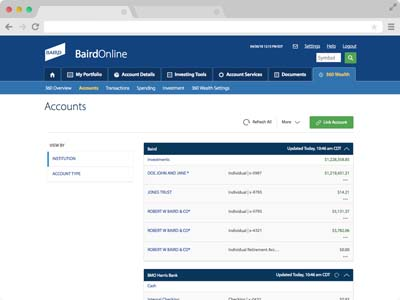 Accounts screenshot