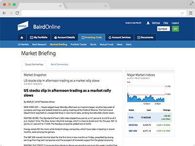 Market Briefing screenshot