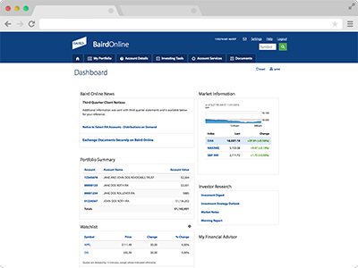User Dashboard screenshot