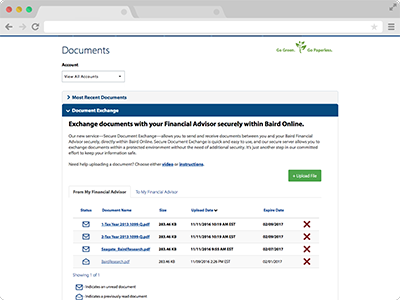 Secure Document Exchange screenshot